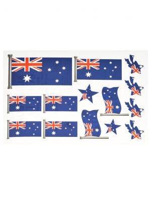 Sheet of Australian Flag Temporary Aussie Tattoos