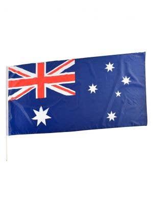 Jumbo 180x90cm Aussie Flag on a Pole Australia Day Decoration