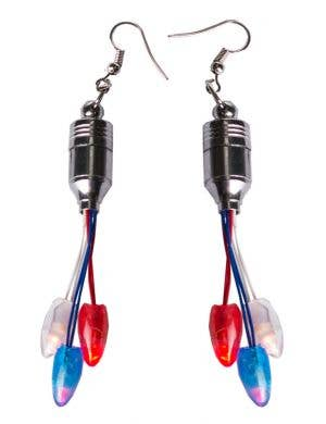 Red, White and Blue Australia Day Light Up Earrings