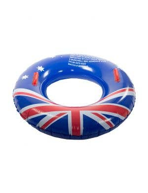 Australia Day Aussie Flag Inflatable Pool Ring With Handles