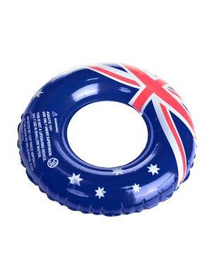 90cm Australia Flag Novelty Inflatable Swim Ring View 1