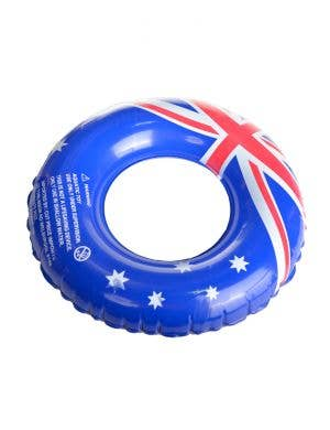 Aussie Flag Novelty Inflatable Swim Ring