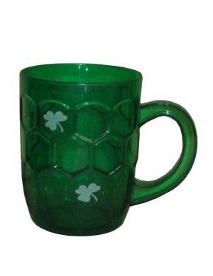 Plastic Green St Patty's Day Beer Cup Front View