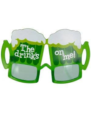 Drink's On Me St Patrick's Day Glasses Costume Accessory