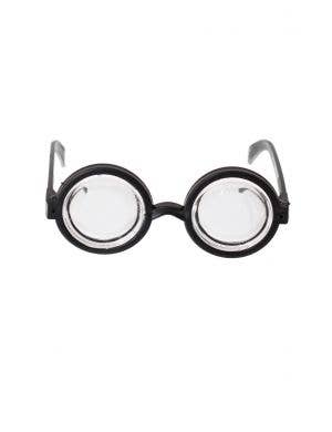 Thick Clear Lens Black Framed School Nerd Harry Potter Glasses Specs Costume Accessory