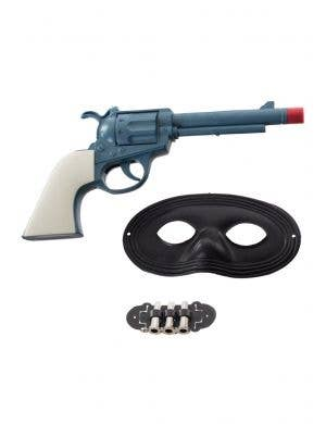 Cowboy Bandit Gun and Mask Set View 1