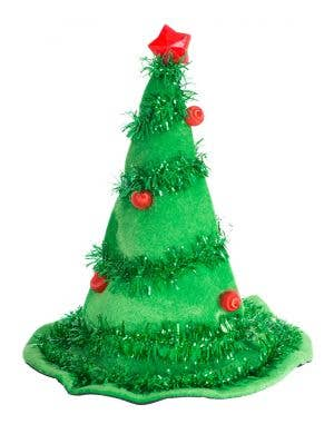 Light Up Green Christmas Tree Costume Hat Main Image