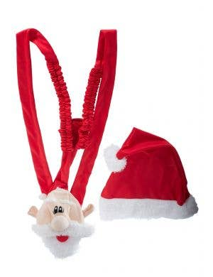 Novelty Santa Claus Christmas Mankini Costume Main Image