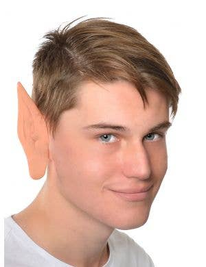 Large Skin Tone Rubber Pointy Elf Costume Ears