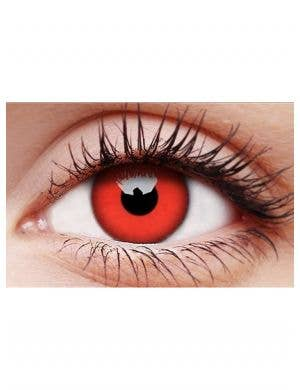 Devil Red Single Wear Halloween Contact Lenses