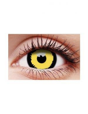 Tigera Yellow and Black 12 Month Halloween Costume Contact Lenses