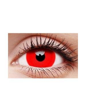Daredevil Red 12 Month Mini Sclera Costume Contact Lenses