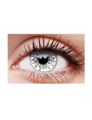 Vikingdom Single Wear Black and White Contact Lenses