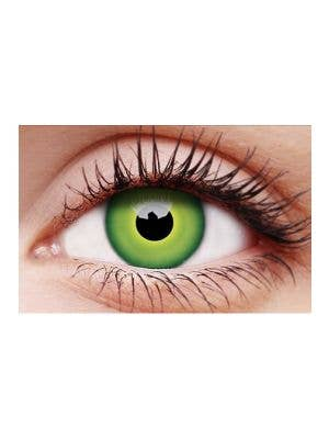 Hulk Green Coloured Single Wear Costume Contact Lenses