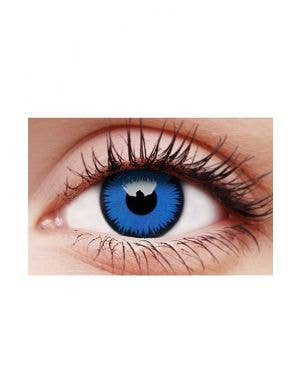 Space Blue Coloured Single Wear Costume Contact Lenses