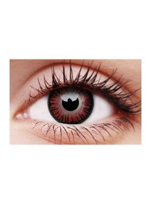 Vampire Black and Red Single Wear Halloween Cosmetic Contact Lenses