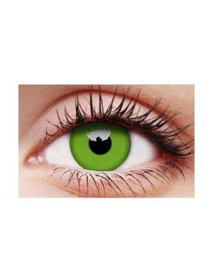 Glow Green UV Reactive 12 Month Wear Costume Contact Lenses