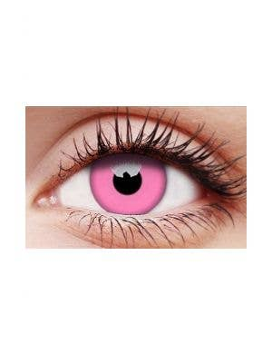 Glow Pink Yearly Wear UV Reactive Costume Contact Lenses