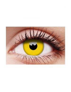 Glow Yellow 12 Month Wear UV Reactive Costume Contact Lenses