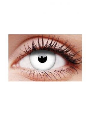Whiteout Single Wear Cosmetic Halloween Contact Lenses