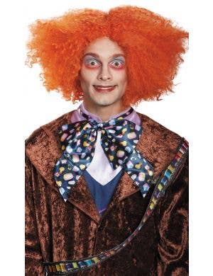 Mad Hatter Orange Frizzy Costume Wig