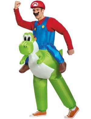 Mario Riding Yoshi Men's Novelty Inflatable Costume