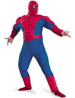Spiderman Men's Plus Size Muscle Chest Costume