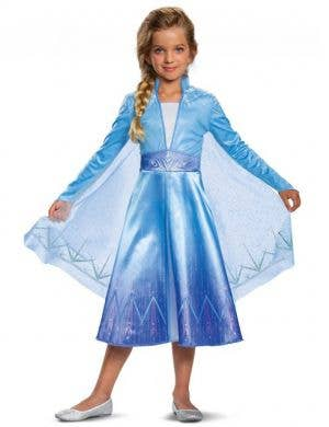 Deluxe Elsa Girls Frozen 2 Fancy Dress Costume