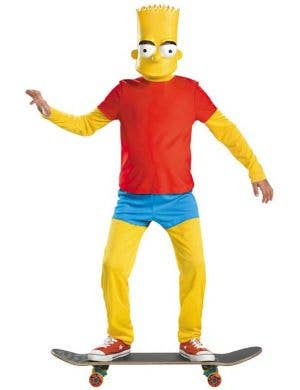 Bart Simpson Boy's Cartoon Character Dress Up Costume Front