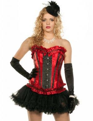 Polka Dot Corset in Red and Black