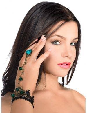 Green Vine and Lace Slave Bracelet