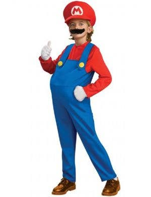Boy's Super Mario Deluxe Red Video Game Costume Front