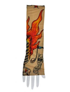 Fake Tattoo Sleeve - Flames
