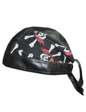 Pirate Bandanna with Skull and Cross Bone Print