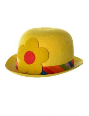 Clown Bowler Costume Hat InYellow