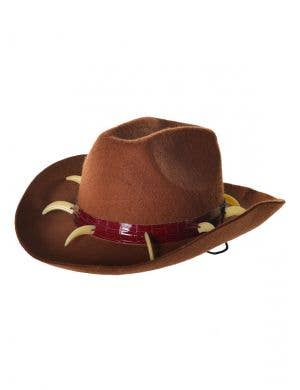 Crocodile Teeth Brown Feltex Aussie Costume Hat