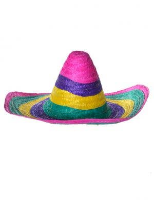 Multicoloured Mexican Sombrero Costume Hat