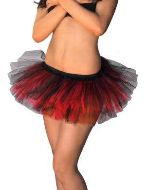 Black and Red Fluffy Tutu Skirt View 1