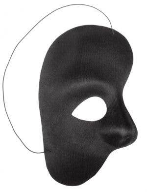 Men's Black Phantom Of The Opera Over Eye Masquerade Mask