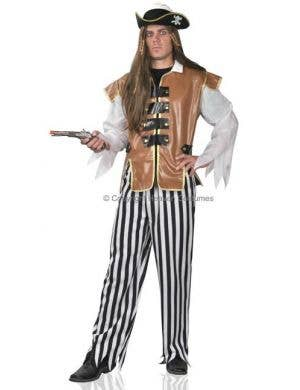 Caribbean Pirate Adult Fancy Dress Costume