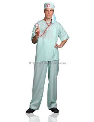 Surgical Scrubs Men's  Surgeon Fancy Dress Costume