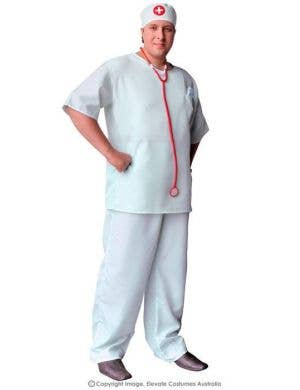 Surgical Scrubs Plus Size Men's Surgeon Costume
