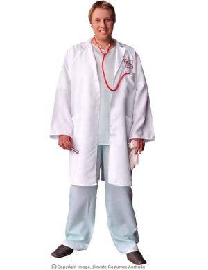 Men's Funny Doctor Plus Size Costume Front View