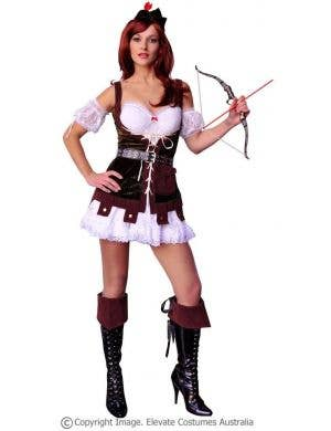 Robin Hood Hunter Sexy Women's Fancy Dress Costume