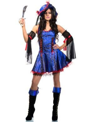 Blue Bounty Pirate Wench Women's Costume