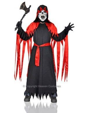 Horror Master Long Black and Red Halloween Costume Robe Main Image