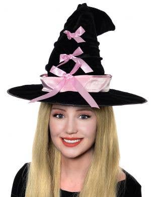 Crooked Pretty Witch Halloween Hat