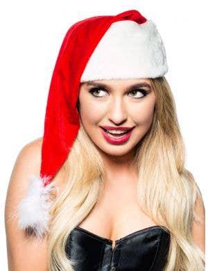 Santa's Velvet Christmas Costume Hat