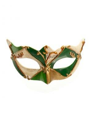 Antiqued Music Venetian Mask - Green