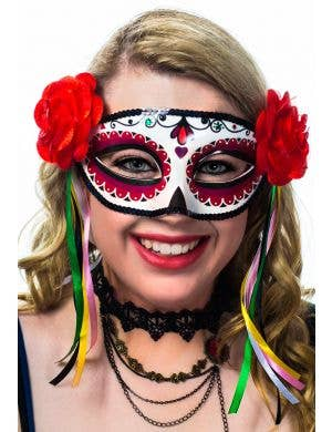 Miss Muerta Day of the Dead Women's Masquerade Mask